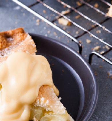 Apple Pie and Custard concept